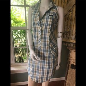 Adorable Columbia plaid dress size small